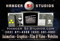 Hanger 51 Studios + Website Creation + Video Production + Graphics and Animation Services